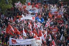 16 2009年柏林演示可以 免版税库存照片