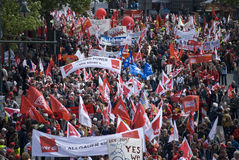 16 2009 berlin demonstration kan Royaltyfria Foton