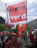 16 2009 berlin demonstration kan Arkivfoto