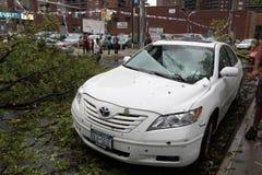 16 2010年城市击中新的9月龙卷风约克 免版税库存图片