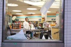 16 2010年城市击中新的9月龙卷风约克 库存照片