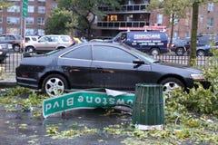 16 2010年城市击中新的9月龙卷风约克 免版税库存照片
