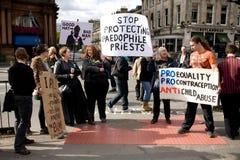 16 2010年爱丁堡抗议者苏格兰9月 图库摄影