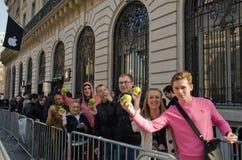 16 2012 Франции paris -го маршей Стоковая Фотография