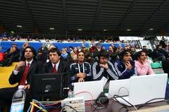 16 22 2010年阿根廷意大利符合橄榄球测试&#19982 图库摄影
