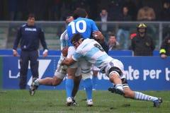 16 22 2010年阿根廷意大利符合橄榄球测试&#19982 免版税库存图片