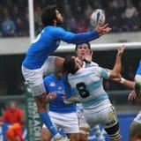 16 22 2010 испытаний рэгби спички Аргентины Италии против Стоковая Фотография RF