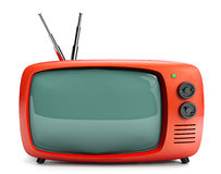 16/9 Retro TV Stock Image