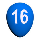 16 Balloon Shows Sweet Sixteen Birthday Party Royalty Free Stock Photos
