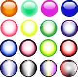 16 botones del Web del asunto ilustración del vector