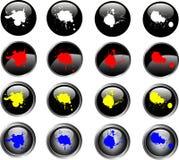 16 botones negros del Web de Splatted stock de ilustración