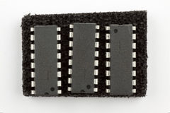 16 circuitos integrados del contacto Imagen de archivo