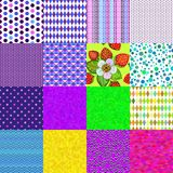 16 colorful seamless patterns. Collection 16 colorful geometric and floral seamless patterns (vector eps 8 Stock Photography