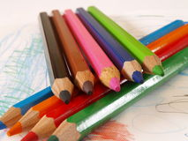 16 crayons Стоковые Изображения