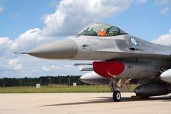 16 f喷气式歼击机挪威 免版税库存图片