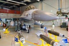 16 f喷气式歼击机 库存图片