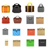 16 handbags. 3d render of 16 hand bags Stock Images