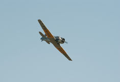 AT-16 Harward II in flight Royalty Free Stock Photos