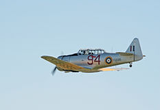 AT-16 Harward II no vôo Imagens de Stock