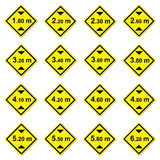 16 height limitation traffic sign. On white royalty free illustration
