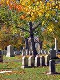 16 jesienią cmentarz Obraz Royalty Free