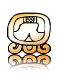 16 Kib - maya calendar seal vector. Symbol of the 16th seal of Mayan calendar - Etznab Royalty Free Stock Photo