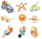 16 kreskówek ikony część setu stylowy target107_0_ wektor royalty ilustracja