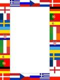 16 nationaal vlagFrame Royalty-vrije Stock Foto's