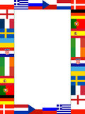 16 National flag Frame. Pattern with white background stock illustration