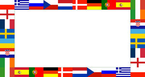 16 National flag Frame Pattern Royalty Free Stock Image