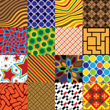 16 patterns. Of square tiles - illustration royalty free illustration