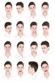 16 retratos de um homem Imagens de Stock