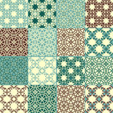 16 seamless patterns. Can be used separately as textile, wrapping paper or any other decoration Royalty Free Stock Image