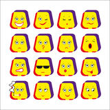 16 smileys Stock Photo