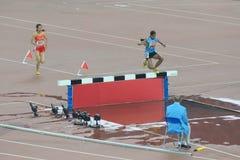 16. Spiele - Steeplechase 3,000m der Frauen Stockfotografie