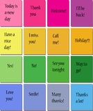 16 sticky notes Royalty Free Stock Photos