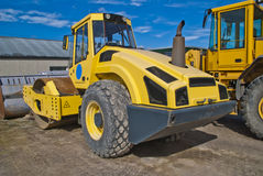 16 tonnes single drum rollers (bomag) Royalty Free Stock Image