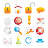 16 web icons. Vector illustration Royalty Free Stock Photos