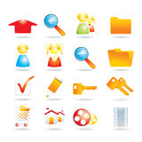 16 web icons. Vector illustration Royalty Free Stock Images