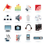 16 web icons. Illustration Royalty Free Stock Photography