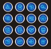 16 Web icons. Set of  pc buttons Stock Photography