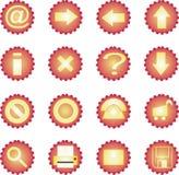 16 wyznaczone ikon słoneczne Fotografia Royalty Free