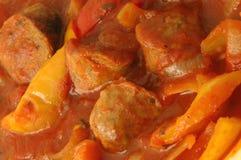 160胡椒香肠 免版税库存图片