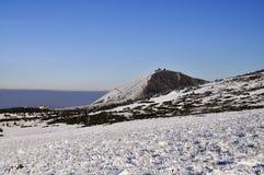 1602 m n高峰snezka 库存照片