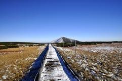 1602 m n高峰snezka 免版税库存照片