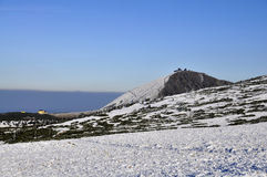 1602 m n高峰snezka 库存图片