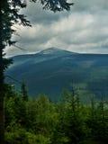 1602 m n szczytowy snezka Fotografia Royalty Free