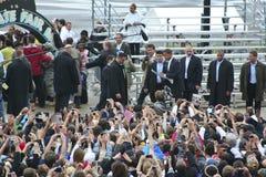 162印第安纳波利斯obama 库存图片
