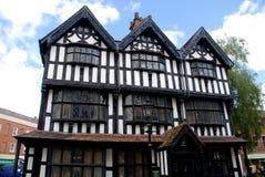 1621年英国老hereford房子 免版税库存照片