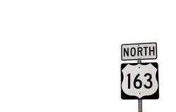 163条高速公路北部符号 库存照片